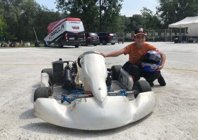 Picture of Rafael Gwizdak in his go-kart